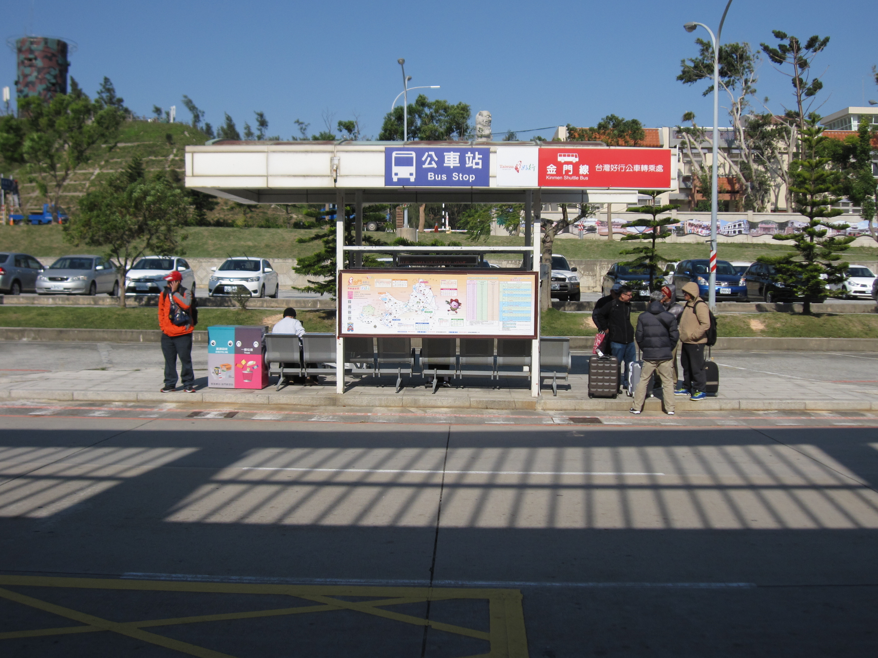 Bus Station in front of the Departure Gate of the Airport